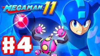 Mega Man 11 - Gameplay Walkthrough Part 4 - Bounce Man Stage! (PC)