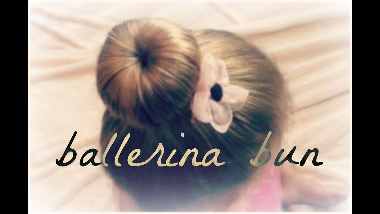 BALLERINA BUN Ballet Hairstyles Cute Girls Hair