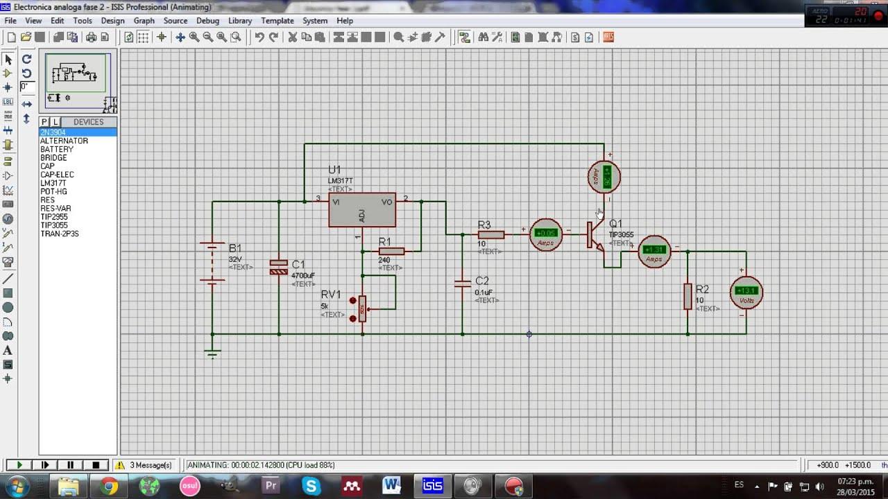 Circuito Regulador De Voltaje : Explicación circuito regulador de voltaje variable