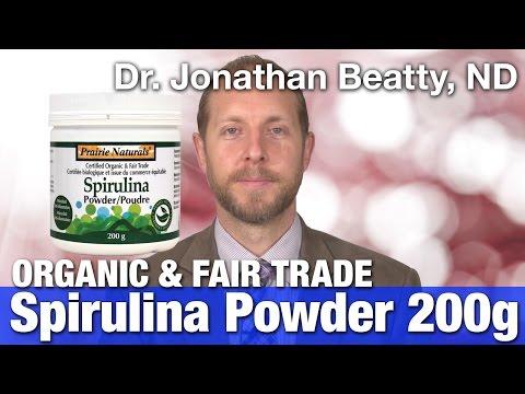 Prairie Naturals Spirulina Organic & fair trade Powder with Dr. Jonathan Beatty