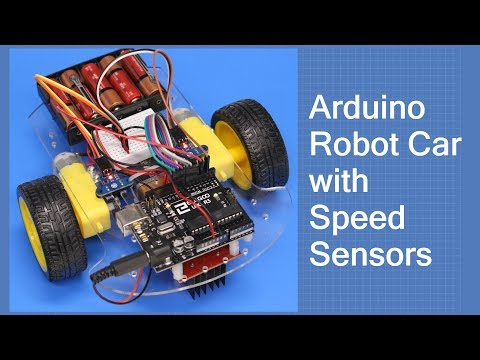 Arduino Robot Car with Speed Sensors - Using Arduino Interrupts