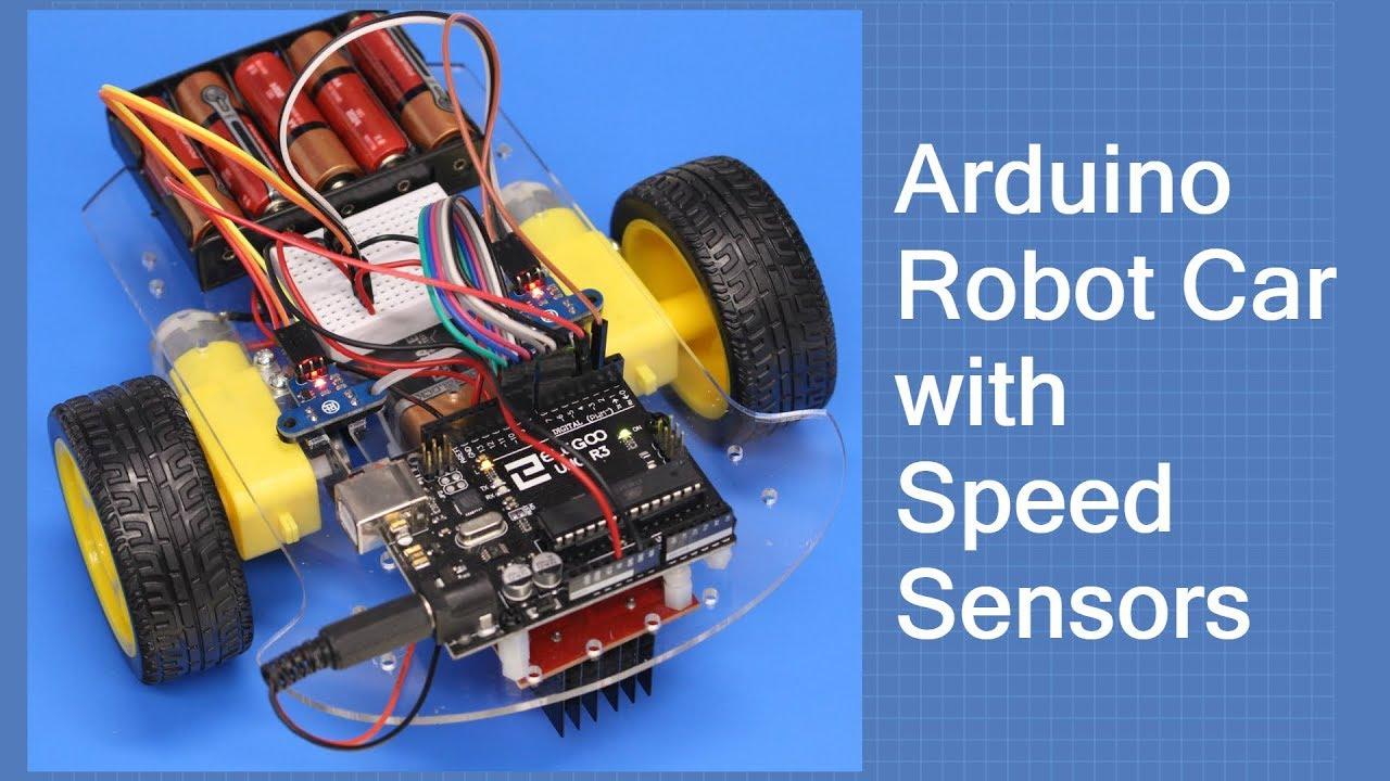 Arduino Robot Car with Speed Sensors - Using Arduino Interrupts