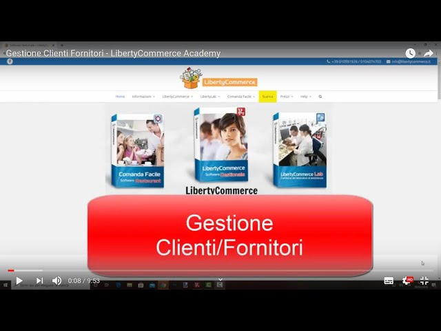 Gestione Clienti Fornitori - LibertyCommerce Academy