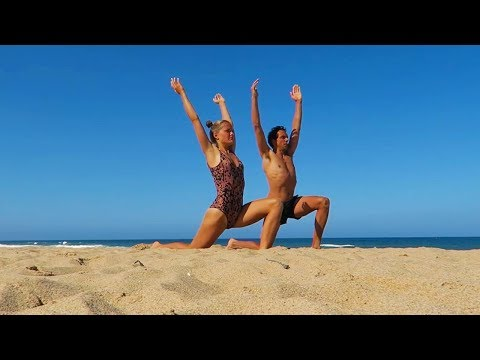 Our Morning Yoga Flow at the Beach