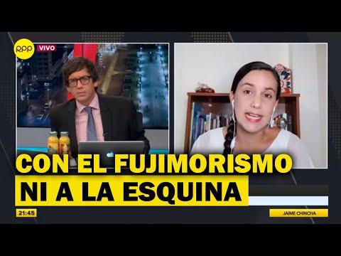 """Verónika Mendoza: """"Con el fujimorismo no podemos ir ni a la esquina"""""""
