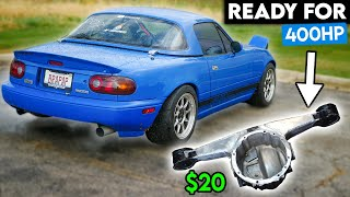 homepage tile video photo for How To Reinforce Your MIATA'S DIFFERENTIAL For $20!!! (400+ HP Capable)