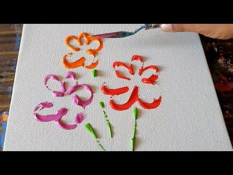 Flower Bouquet Abstract Art