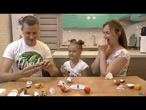 Киндер Сюрприз игра челлендж в рулетку Kinder Surprise Roulette game
