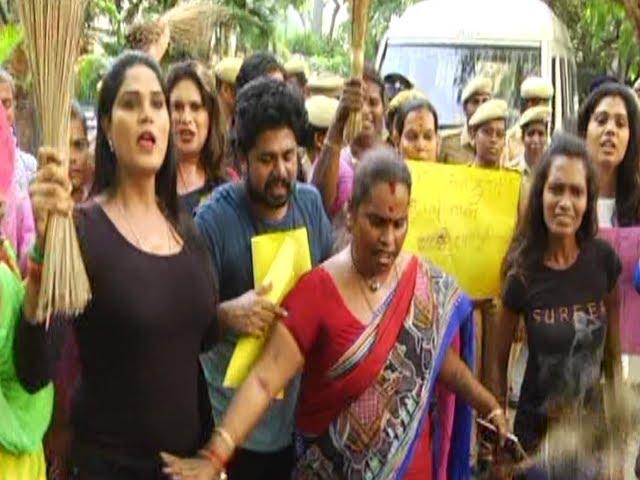 நடிகை கஸ்தூரியின் வீட்டை முற்றுகையிட்ட திருநங்கைகள்   #Kasturi   #Transgender