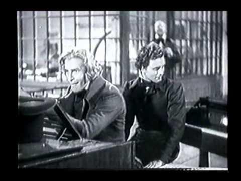 """Szene aus """"Abschiedswalzer"""" (D,1934): Chopins Zusammentreffen mit Liszt in Pleyels Klaviersalon"""