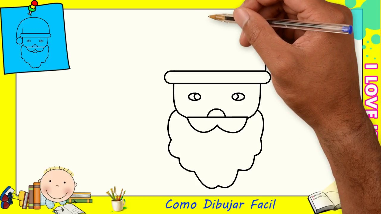 Dibujos De Papa Noel Faciles Paso A Paso Para Ninos Como Dibujar A