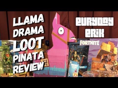 Jazwares Fortnite Llama Drama Loot Pinata 4'' Action Figures Toy Review & Dance Party!