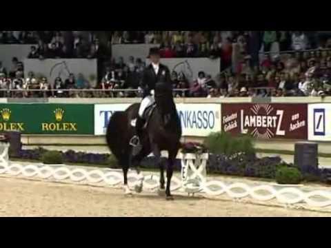 Anna Kasprzak & Donnperignon,Aachen,CDIO5* Freestyle 2013 (80.475%)