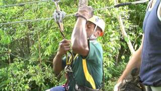Zip Lining Tours and Adventures in the Fiji Rainforest - Flying Fox Instructions