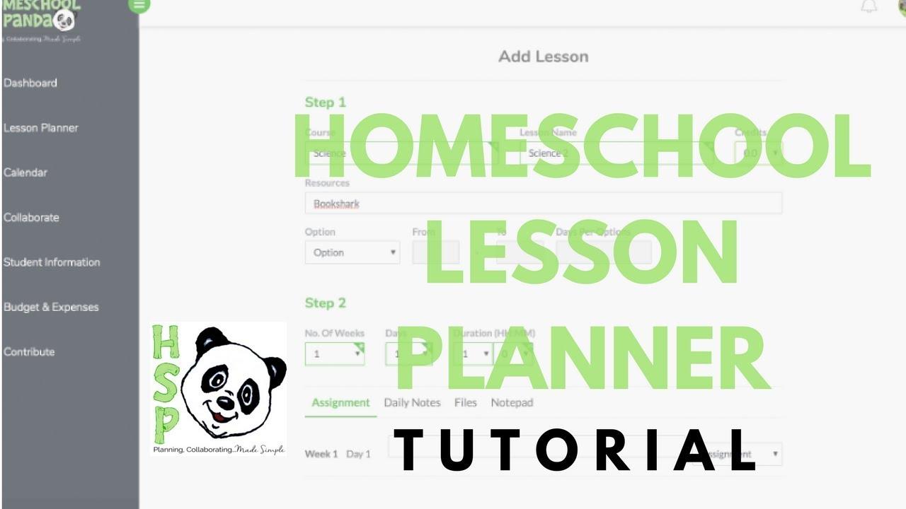 homeschool lesson planner tutorial free online planner