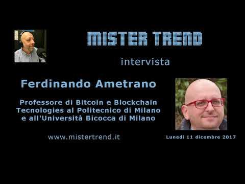 Il Bitcoin spiegato dal Prof. Ferdinando Ametrano