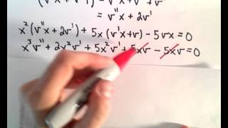 Reduction of Order, Basic Example