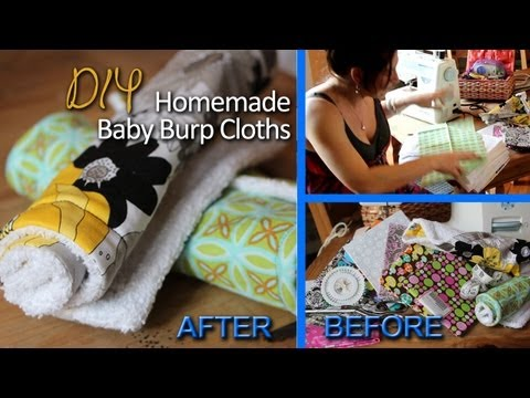 TUTORIAL ❤ Homemade Baby Burp Cloths | DIY w. One Urban Yogini ❤
