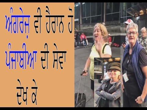 Sikhs serving Langar for foreign peoples (punjabi media)