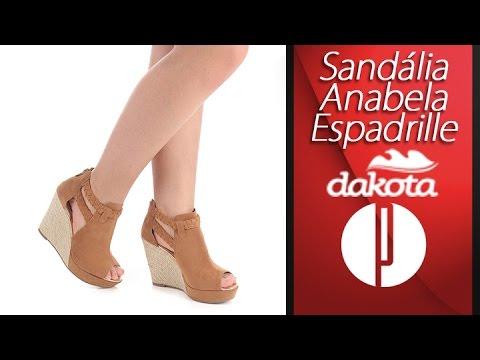 b91336d3c3 Sandália Anabela Espadrille Feminina Dakota - 6091527883 - YouTube