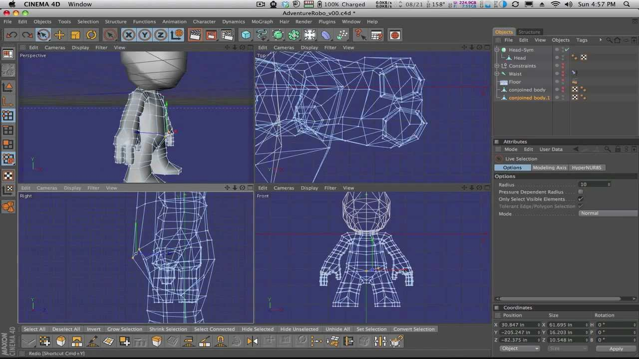 Character Design Cinema 4d Tutorial : Cinema d tutorials character modeling serie tv francesi