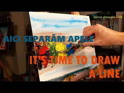 MirceArt Studio – episode 51 – How to paint an autumn landscape in acrylic in 10 minutes
