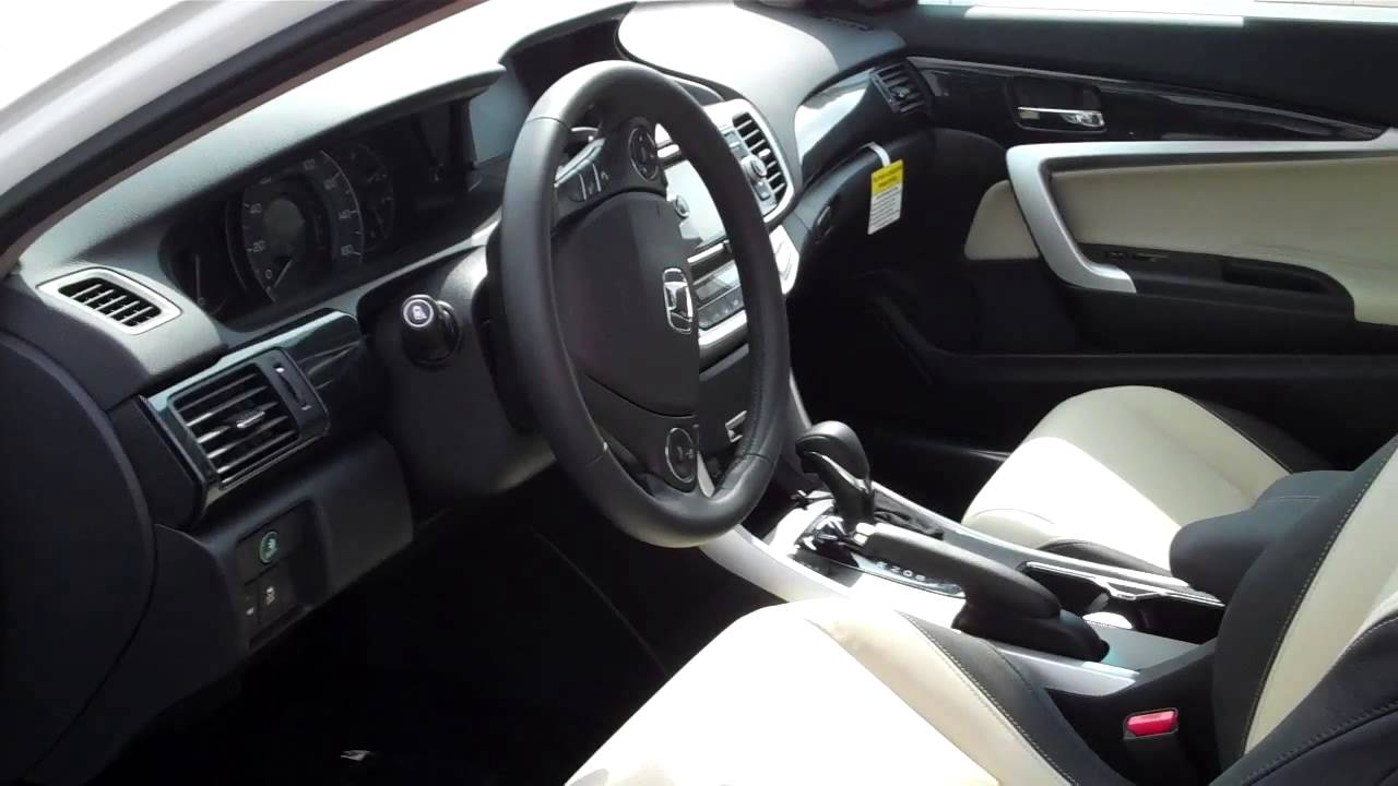 2014 honda accord coupe two toned interior youtube for 2014 honda accord coupe interior