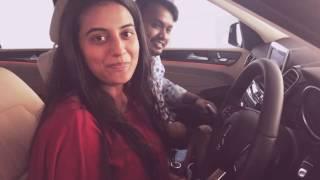 Akshara singh is driving Pawan singh's new Mercedes