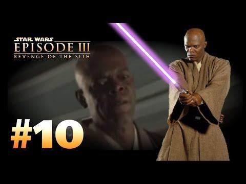 Star Wars Episode 3 Revenge Of The Sith Ps2 Walkthrough Part 10 Dark Side Of The Force Windu Youtube