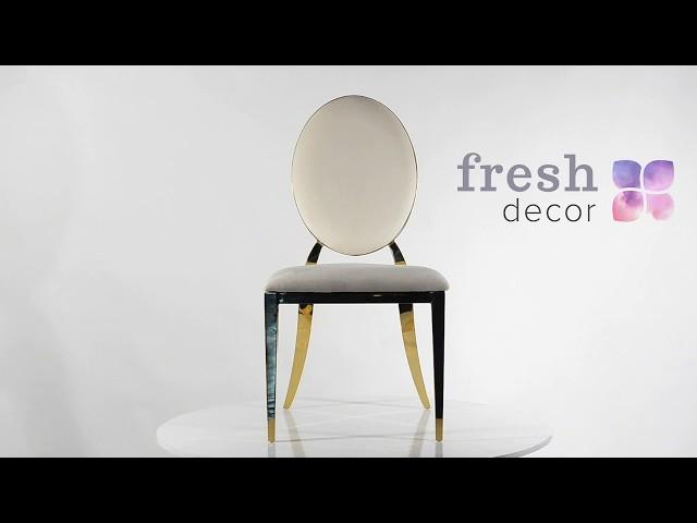 Видео обзор золотого стула Милан Голд с белой спинкой и белым сиденьем