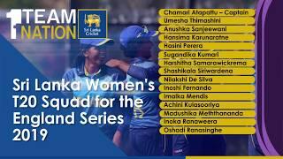 Sri Lanka Women's Squad for the T20 Series vs England Women's