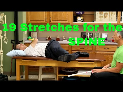 19 Ways to Stretch the Spine (Mid-Back & Low Back) (Thoracic & Lumbar)
