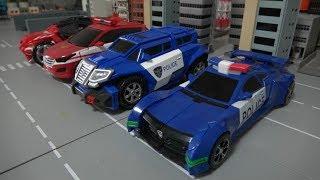 Hello Carbot Police Car Fire Car Toys 헬로카봇 경찰차 소방차 장난감