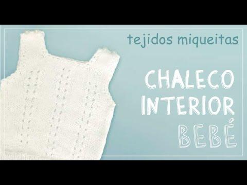 Tutorial para tejer chaleco para bebé a dos agujas (Subtitles) - YouTube