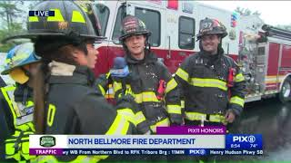 Learning drill techniques from the North Bellmore Fire Department