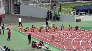 2016 茨城県高校総体陸上 男子110mH準決勝2組
