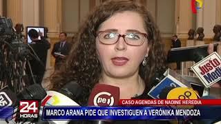 Marco Arana pide que investiguen a Verónika Mendoza por agendas de Nadine Heredia