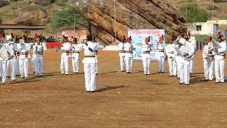 Sainik School Bijapur, Maratha Light Infantry Band at Badami  9