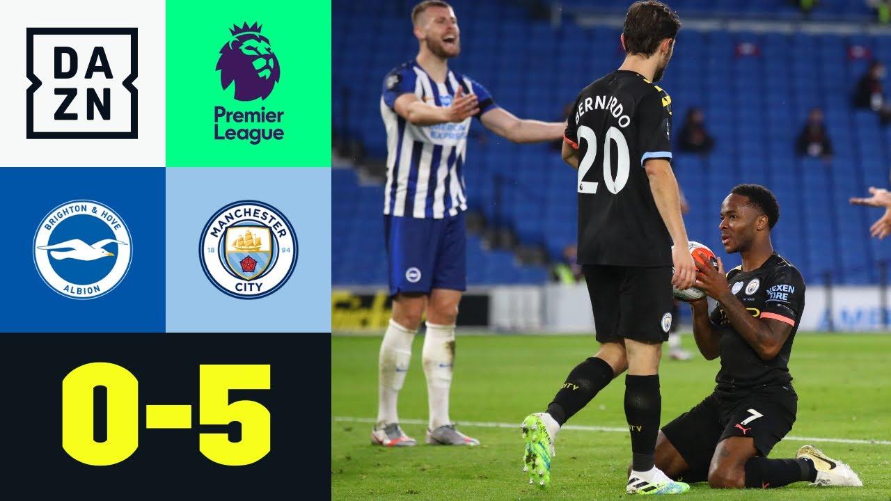 Brighton vs Manchester City  (0-5)   Resumen y goles   Highlights Premier League