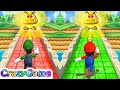 Mario Party 9 MiniGames - Step It Up Mario vs Luigi Master Difficulty Gameplay