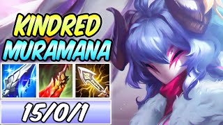 NEW KOREAN BROKEN KINDRED MURAMANA AD CRIT BUILD & RUNES | Spirit Blossom Kindred -League of Legends