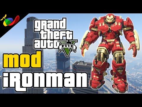 GTA 5 MOD ITA -  Ironman & Mini Hulkbuster Cazzeggio EPICO
