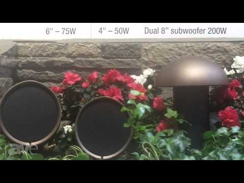 CEDIA 2013: Crestron Talks About its AIR Landscape Speakers
