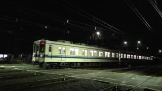 東武800系801F+14系500番台+805F深夜回送