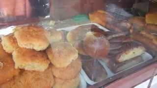 yummy pastries + bread @ Castries market- St Lucia