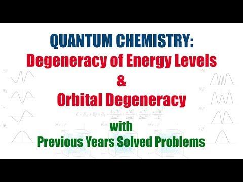 Quantum Chemistry: Degeneracy of Energy Level & Orbital Degeneracy
