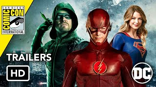 All DCTV Comic Con 2019 Trailers HD Flash Arrow Supergirl Harley Quinn Batwoman