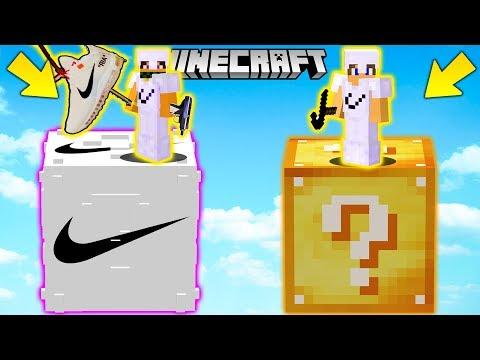 SFIDA con i LUCKYBLOCK della NIKE GIGANTI !! - Minecraft ITA