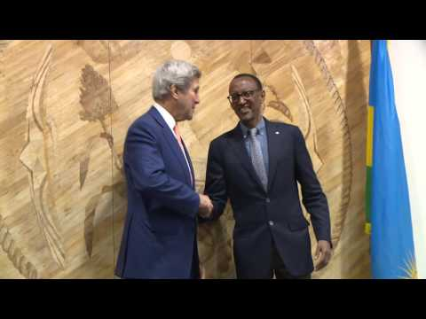 President Kagame meets with US Secretary of State John Kerry | Kigali, 14 October 2016