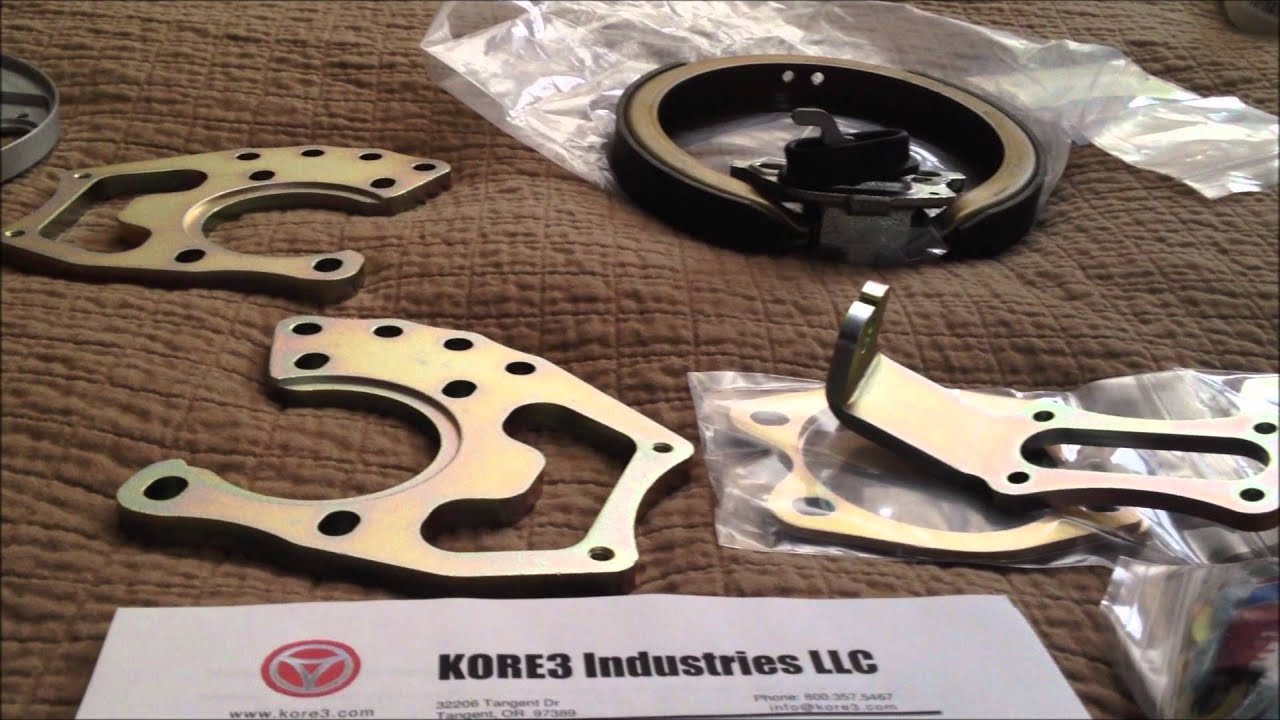 Vette C6 Z06 brakes on a Ford 9 inch rearend, Gbody ...